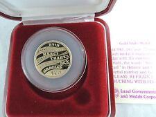 ISRAEL 1990 THANKS / TODA / DANKE / MERCI / DAKUJEM /GRACIAS STATE MEDAL 7g GOLD