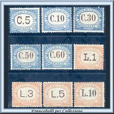 1926 San Marino Segnatasse Serie completa n. 19/27 Nuovi Integri **