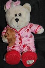Starbucks Coffee 2007 Bearista Plush Bear Girl Pink Christmas Pj's Stuffed Lovey