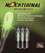 Rage Nockturnal-S Lighted Nocks 3pk Green NT-205 #01018 DoubleTake