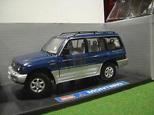 MITSUBISHI MONTERO 4X4 bleu  ( American ) o 1/18 voiture miniature SUN STAR 1215