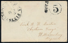 "CSA HAND STAMP ""PAID"" & ""5"" CNLS ON COVER W/ ENCLOSURES PITTSYLVANIA C.H. BP8266"