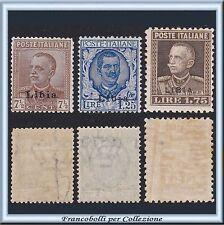 Colonie Italiane 1928-29 Libia soprastampati n. 78/80 Nuovi Integri **