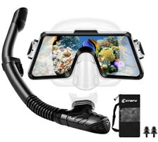 CHYBFU Adult Snorkel Set,Panoramic Tempered Glass Scuba Diving Mask, Breathe...