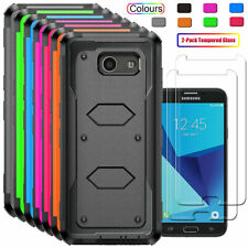 For Samsung Galaxy J3 Prime/J3 Emerge/Luna Pro Case Cover+Glass Screen Protector