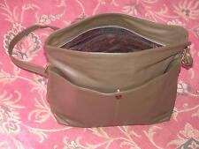 VINTAGE 'JANE SHILTON' OLIVE GREEN REAL LEATHER HAND BAG