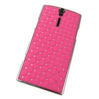 Hard Case/Schutz-Hülle Sony Xperia S Arc HD LT26i BLING STRASS Hot Pink Schale