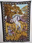 UNICORN Tapestry Wall Hanging ATC NY Made In Turkey 38x55 1970's