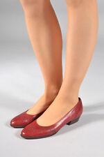 Vintage rot gepunktet Lederschuhe (UK 6,5)