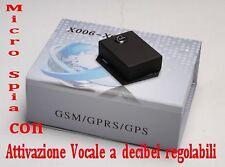 MICROSPIA GSM AMBIENTALE SPY TRASMETTITORE X006 ATTIVAZIONE VOCALE REGOLABILE