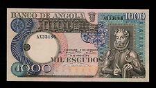 ANGOLA  1000  ESCUDOS  1973 AX  PICK #  108  AU.
