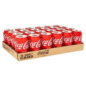 COLD DRINKS, FIZZY DRINK CANS, COCA COLA, SPRITE, DIET COKE PACK OF 24 330 ML