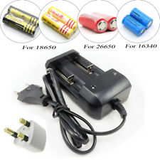 Universal Battery Charger Adapter for 26650 18650 16340 Rechargeable Battery UK