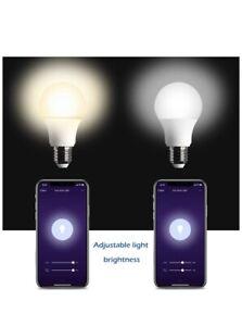 KMC Smart LED Light Bulb Dimmable, Compa - New WiFi Smart Light 2 Pack