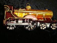 Weihnachtsschmuck Baumschmuck Western-Lok Zug alte Lokomotive Gablonzer Glas