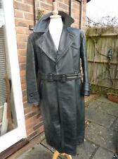 Post WWII German Bundeswehr Army Officer's Green Leather Overcoat Coat