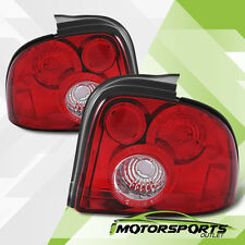 1995 1996 1997 1998 1999 Dodge Neon Trunk Red Clear Tail Lights Rear Brake Lamps