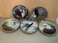 The Hamilton Collection Eagles Collectors Plates Set Of 5