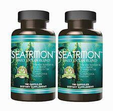 Seatrition Sea Vegetables 180 Veg capsules 12 Seaweed Veggies Kelp Supplement