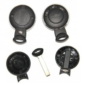 Schlüssel Fernbedienung 3T Gehäuse Rohling Mini Cooper Clubman Ring Chrom A77