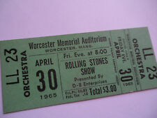 ROLLING STONES__1965__UNUSED__CONCERT TICKET__Worcester, MA__EX++