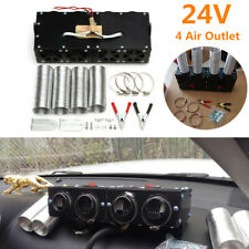24V 4-Hole Iron Compact Truck Car SUV RV Heater Heating Defroster Demister Black
