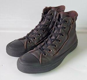 CONVERSE All Star CHUCK TAYLOR Mole Unisex Leather DOUBLE ZIP Hi Top Sneaker