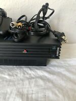 Sony PlayStation 2 PS2 Console Bundle Fat Black W/ Controller FREE AND FAST SHIP