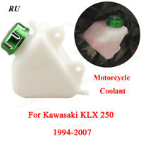 ABS Radiator Coolant Overflow Tank Reservoir W/Lid For Kawasaki KLX250 1994-2007