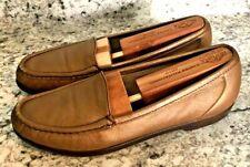 "SAS TRI-PAD COMFORT ""JEWEL"" Beige Tan Gold Leather Loafers Women's sz 7.5 N"