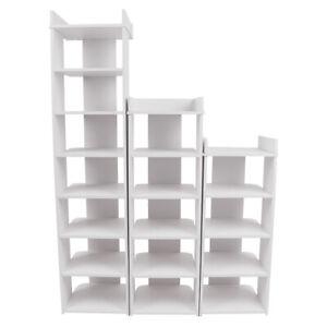 5/6/8 Tier Shoe Rack Storage Footwear Shelf Holder Display Wood Unit Organiser