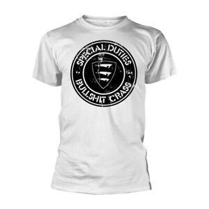 SPECIAL DUTIES - BULLSH*T CRASS (WHITE) Official July 21 T-Shirt (Black) , punk