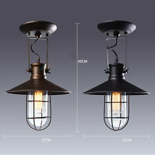 Searchlight Nautical Fisherman Metal Glass Lamp Shade Ceiling Pendant Light Loft