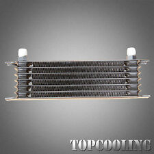 Black 7 Row AN-10AN Universal Engine Transmission Oil Cooler Aluminum