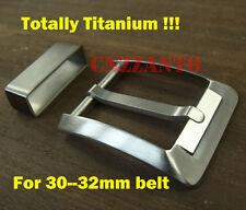 Titanium TA2 Belt Pin Buckles Fastener Brushed Finish Anti allergic + belt ring