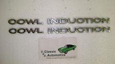 3DAY SALE Cowl Induction Hood Emblems 4pcs Chevelle El Camino badges 70 71 72