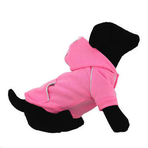 Doggie Design Sport Hoodie sizes xs-med PINK RED BLUE GREEN Dog Hoodie Sweater