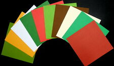 COLOURFUL CHRISTMAS TEXTURED CARDSTOCK  x 10   **** 15cm x15cm****