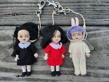 "3 LIVING DEAD DOLLS Mini 4"" Figure Series 1 Eggzorcist Sin Sadie Mezco Toys 2001"