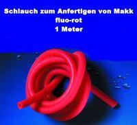 Schlauch zum Anfertigen von Makk (Makk-Schlauch) fluo-rot 100cm DM 3mm