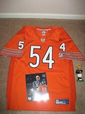 Chicago Bears Urlacher Orange Authentic Jersey w/ Signed HOF Picture/Bobblehead