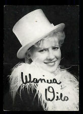 Marina Wils Autogrammkarte Original Signiert # BC 40747