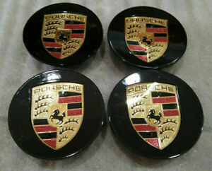 Porsche 911 CONCAVE Center Cap Boxster Cayman Cayenne Carrera Panamera SET of 4