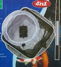 Hozelock 4-teillig Teichpflege-Set Teleskopstiel/ Bürste/ Laub & Algenkescher