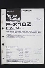 Pioneer f-x10z f-x11z Original Tuner Additional Manuel de service / Diagram O120