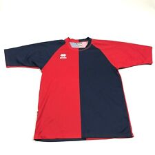 Errea Soccer Jersey Size Xl Color Block Red Blue Dry Fit Short Sleeve Men's Tee