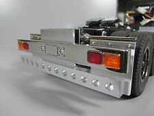 Alum Rear T-Bar Bumper Guard w/ LED light holes Tamiya RC 1/14 GlobeLiner Semi