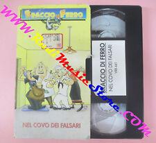 VHS film BRACCIO DI FERRO NEL COVO DEI FALSARI animazione VRB 441 (F96*)no dvd