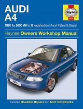 [3575] Audi A4 1.6 1.8 Petrol 1.9 Turbo Diesel 95-00 (M to X Reg) Haynes Manual