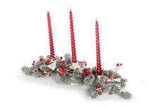 DISRAELI Candeliere/Centrotavola Natalizio Rosso, 3 Pezzi, 50x20xH33 cm